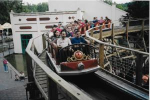 Train Loup Garou Six Flags Belgium 2001