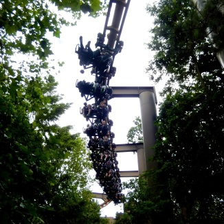 The train is quite long, leading to modifications on the ride.