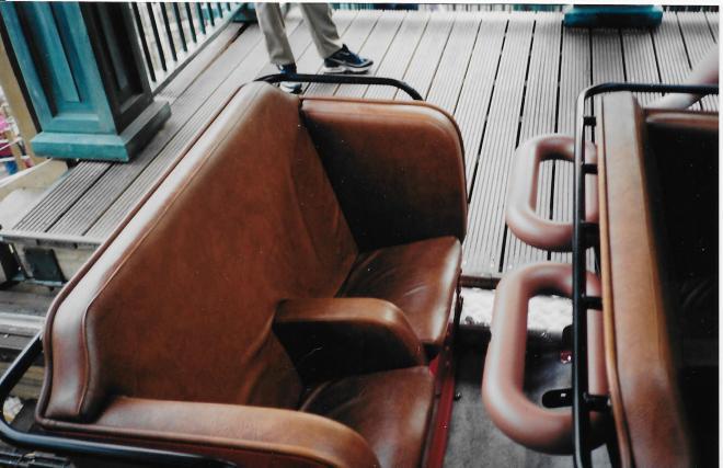 Vekoma wooden coaster seat