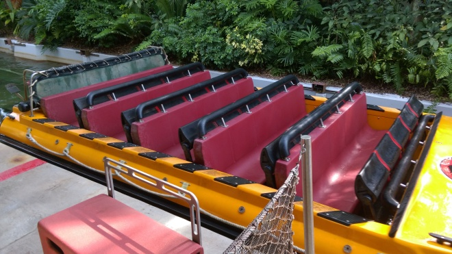Jurassic Park River Adventure Islands of Adventure lap bars (2)