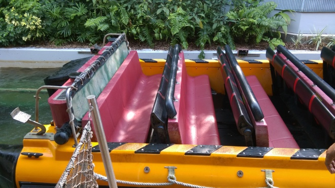 Jurassic Park River Adventure Islands of Adventure lap bars (3)