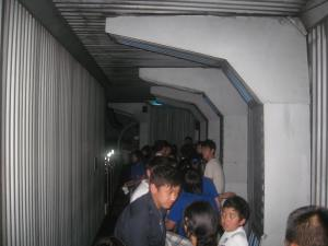 Space Mountain Thailand waiting line