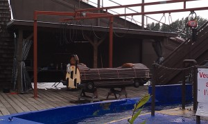 repainted Bamboo Chute Boat