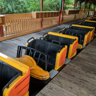 A look at one of the train on the Cheetah at Wild Adventures in Valdosta, GA.