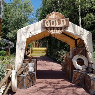 The new entrance to the attraction,.