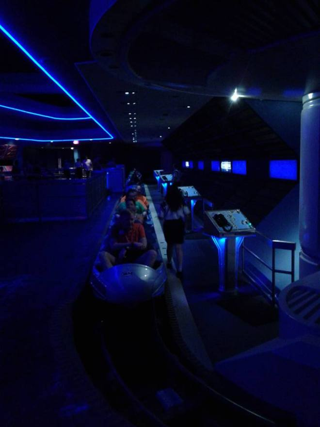 Space Mountain Omega Loading platform