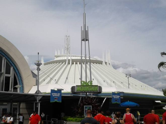 Space Mountain WDW from Tomorrowland