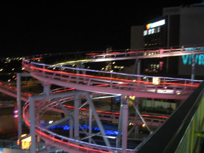 Diving Coaster Vanish at night (2)