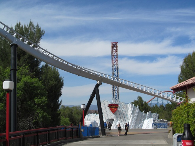 Superman Fortress of Solitude Six Flags Magic Mountain