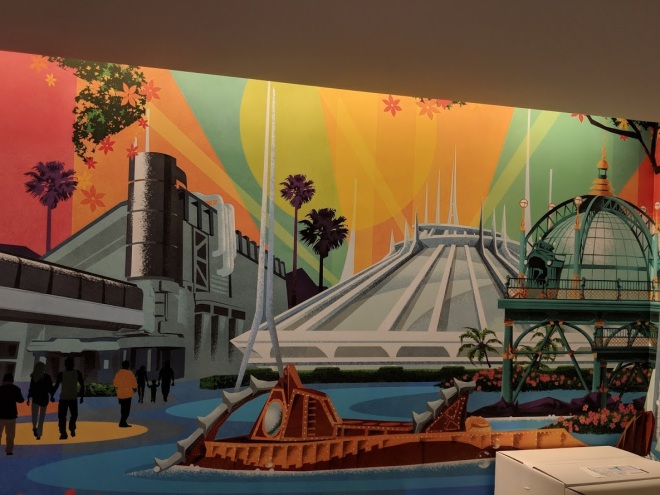 Disney Celebration Discover lobby mural Space Mountain