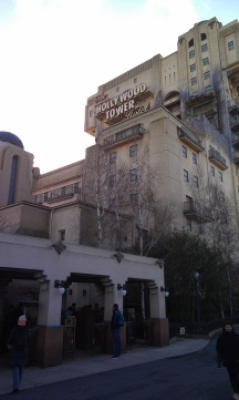 Sideview of the Hollywood Tower Hotel.