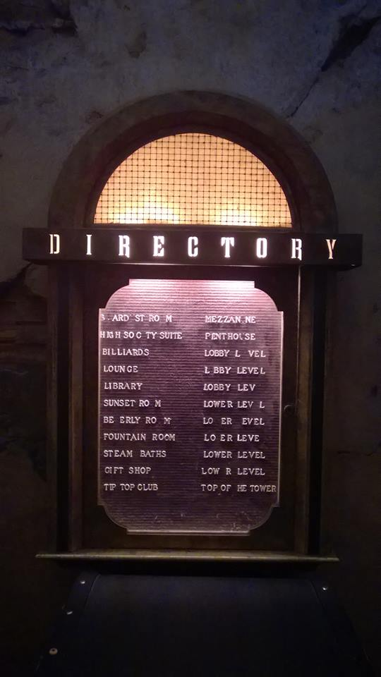 Tower of Terror Hotel Directory