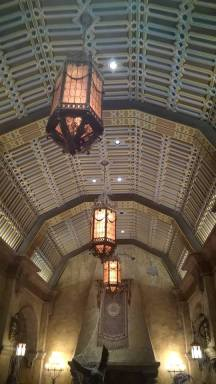 Glass ceiling in the Lobby