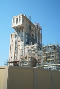 The Tower of Terror in Paris under construction.