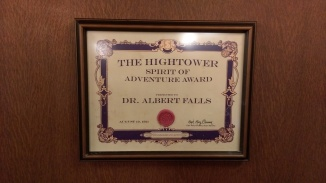 After Hightower dissapeared, the society started giving out this award to members.