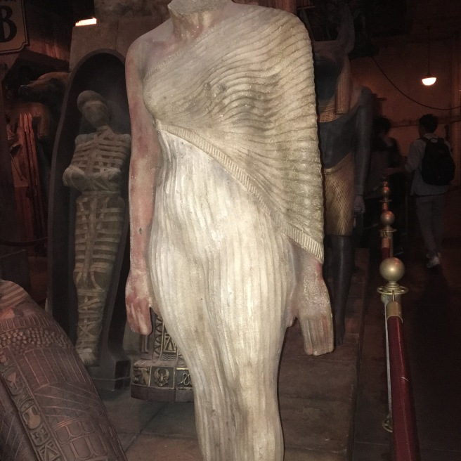 Mummy in the warehouse.