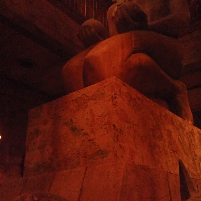 Large egyptian statue