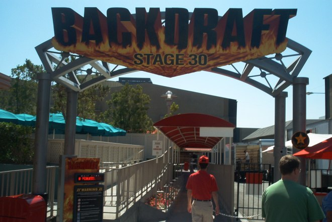 backdraft ush entrance sign