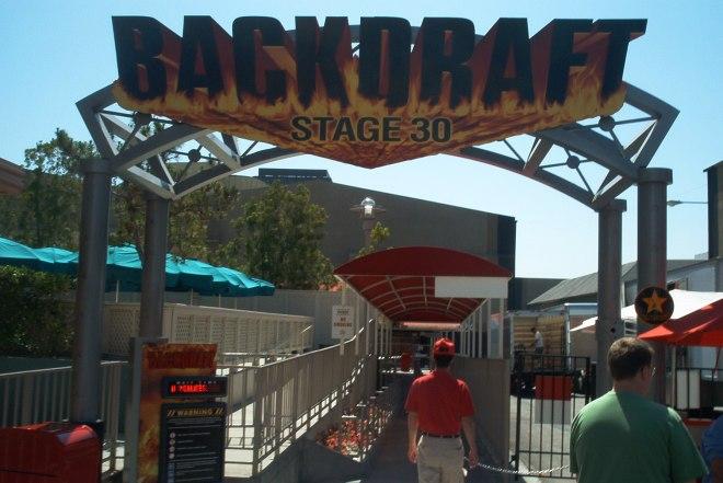 backdraft ush entrance sign