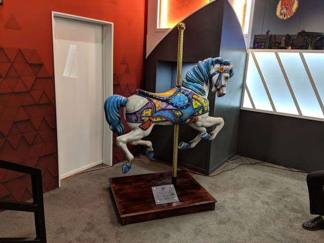 dynamic attractions carousel horse donation to iaapa
