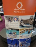 Banner advising various Polin Attractions products.