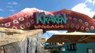 New entrance sign for Kraken Unleashed.