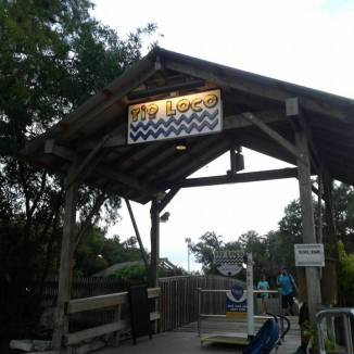 Rio Loco at SeaWorld San Antonio entrance sign.