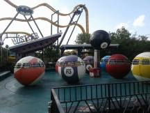 Motorama was an electric car ride and was the sister attraction to the Hustler, a unique Morgan tea cups style attraction where the cups were replaced by pool balls.