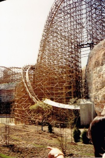 The original record breaking drop of the Rattler.