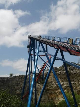 The lift hill and first drop.