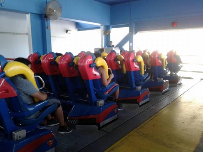 Superman Krypton Coaster Six Flags Fiesta Texas Train