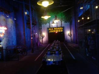 Rock n Roller Coaster launch tunnel