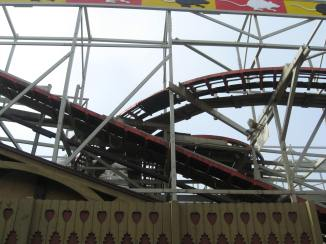 A look at the track on the Wild Mouse.