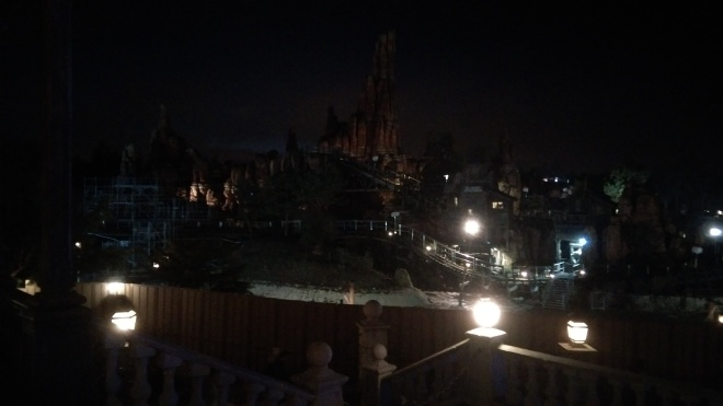 Big Thunder Mountain at night