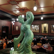 Beautiful jade statue in the China room.