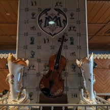 Musical instruments inside the Russian room.