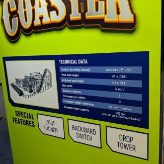 Factory Coaster statistics.
