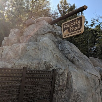 Grizzly Peak Airfield sign at Disney's California Adventure..