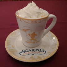 Seafood Bisque in a souvenir cup and saucer