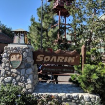 Soarin Around the World entrance sign.