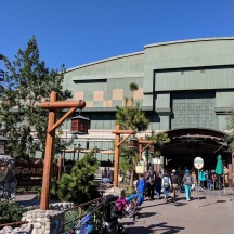 New appearance of the show building at Disney's California Adventure.