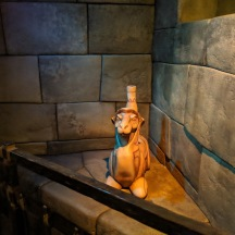 Statue seen in the Fast Pass queue of Soaring Above the Horizons