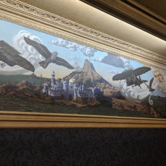 Mt. Prometheus mural in the safety video room