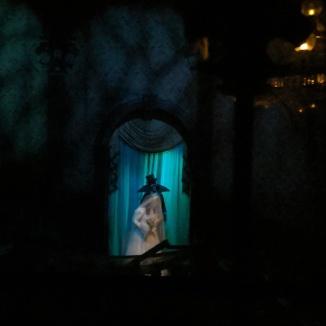 Melanie with the Phantom behind her.