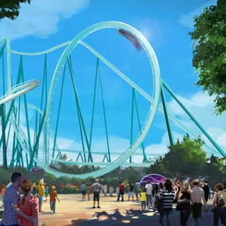 Concept art of the proposed ride, courtesy again of SeaWorld San Diego.
