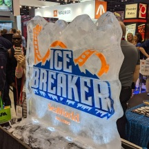 Ice Breaker ice sculpture.