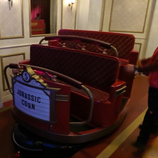 ETF Ride Systems provide the ride vehicles for this attraction.