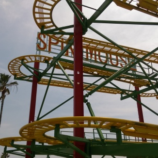 Top portion of a Reverchon Crazy Mouse at Greenland in Japan.