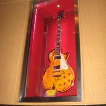 Tour de Force Records guitars on display (2)