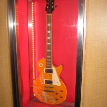 Tour de Force Records guitars on display (3)